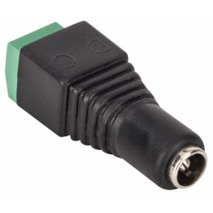 Juego de 2 adaptadores de Jack invertido 2,1 mm a 2 terminales