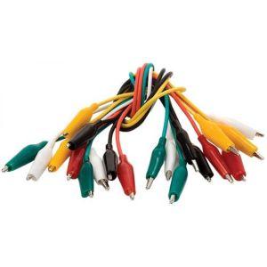Juego de cables con caimanes de 2,7 cm, 3 Amperes