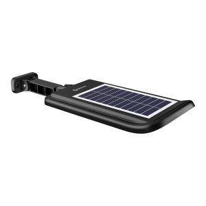 Lámpara LED con sensor de movimiento, panel solar y batería recargable