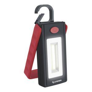 Lámpara LED portátil con imán, gancho y base abatible