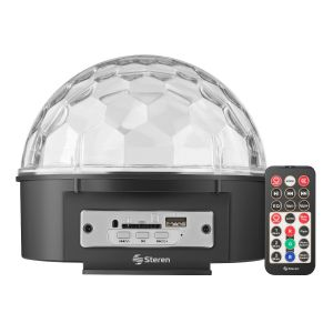 Esfera LED con bocinas y reproductor USB/SD