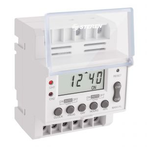 Temporizador (timer) digital industrial de 2 canales