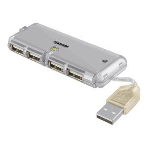 Mini HUB USB ultra delgado de 4 puertos.
